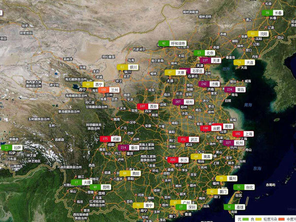 where in china is polluted where is not