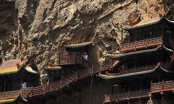 The Hanging Temple, temple built on the cliff