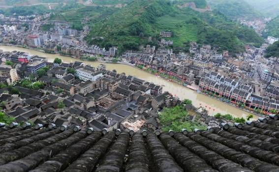 Guizhou Zhenyuan Ancient Town, A Small Town in the Ink and Wash Painting