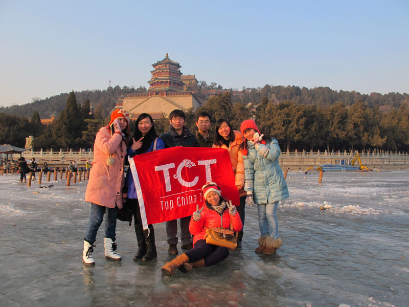 Summer Palace: Let's enjoy the leisure walking in sunset