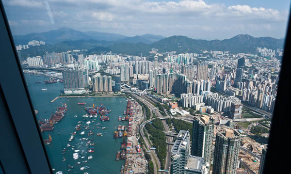 Sky 100 - a fantastic platform to see Hong Kong from the air