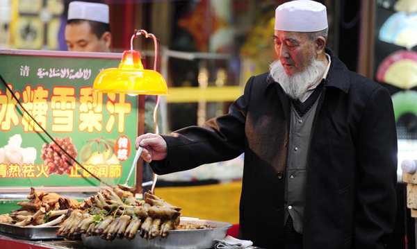 Enjoy Delicious Snacks at Xian Muslim Street