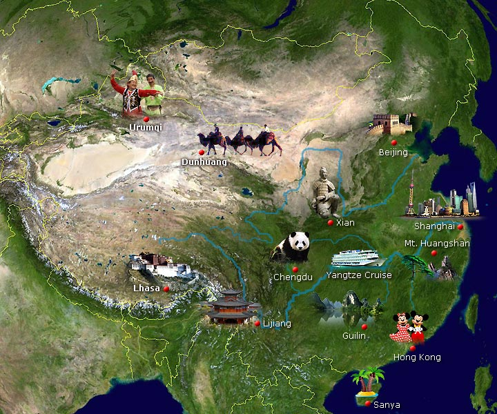 China Tourist Map, China City Map