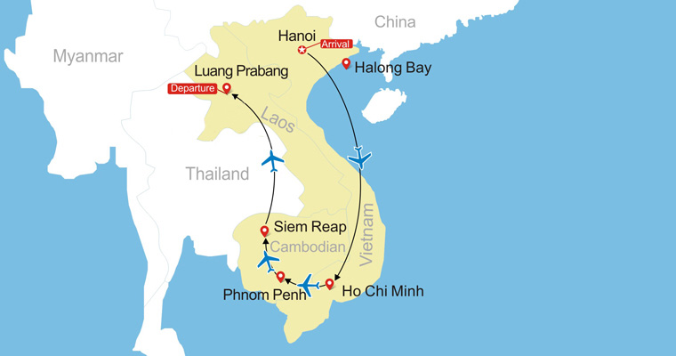 16 Days Vietnam, Cambodia & Laos Clic Tour Map Of Vietnam And Laos on map of hong kong and vietnam, map of india and vietnam, map of indonesia and vietnam, map of asia and vietnam, map of singapore and vietnam, map of vietnam and china, map of korea and vietnam, map of cambodia and vietnam, map of france and vietnam, map of philippines and vietnam, map of guam and vietnam, map of indochina and vietnam, map of thailand and vietnam, map of world and vietnam, map of australia and vietnam,