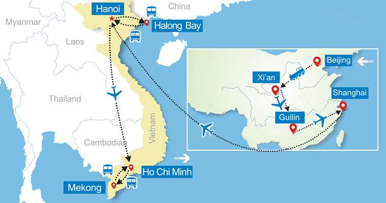 Best china to vietnam tour 18 days china and vietnam tour gumiabroncs Images