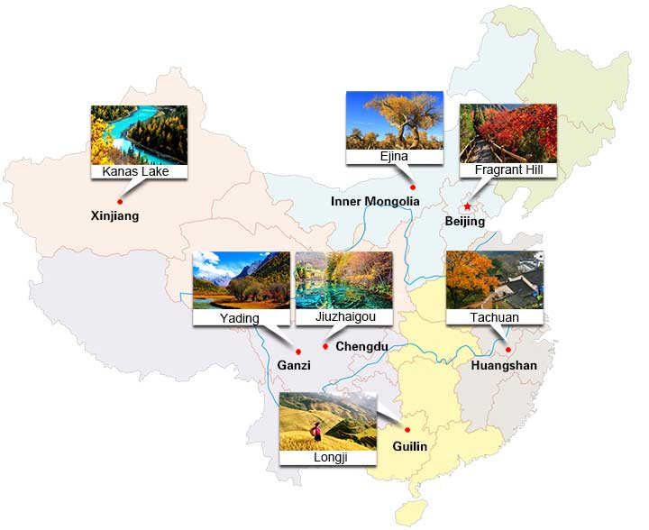 Best places to visit in autumn in China