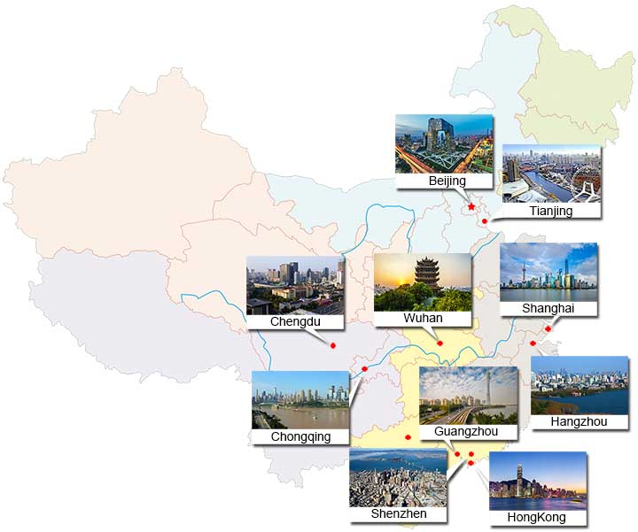 Major cities in china the most important largest cities major cities in china gumiabroncs Image collections