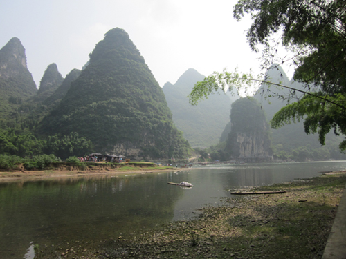 Cooking beside the Li River