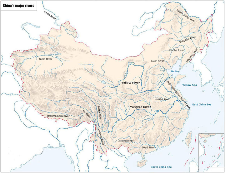 chinese major rivers