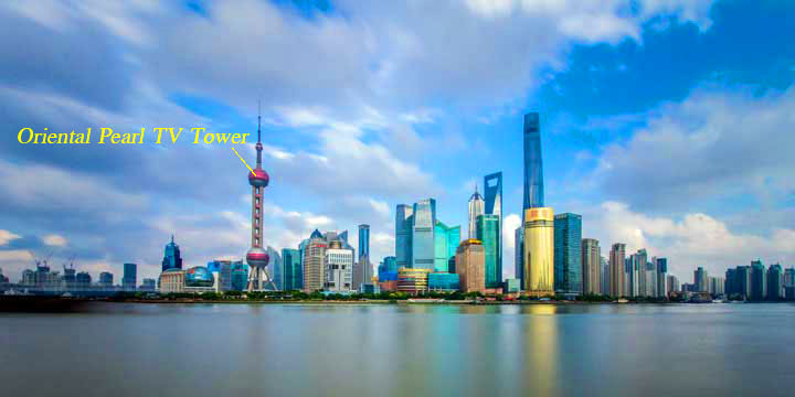 Landmarks of shanghai-oriental pearl tower