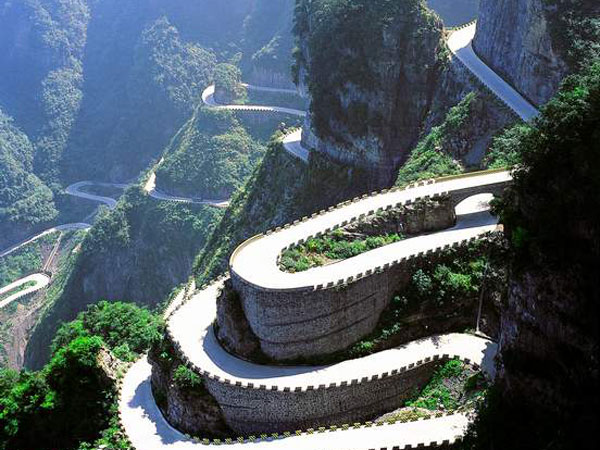 Top 10 Most Beautiful Highways in China- Tianmen Mountain Winding Mountain Road