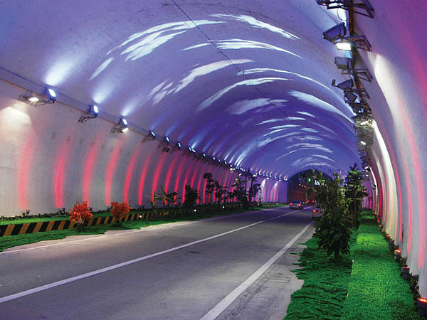 Top 10 Most Beautiful Highways in China- Zhongnan Mountain Highway Tunnel