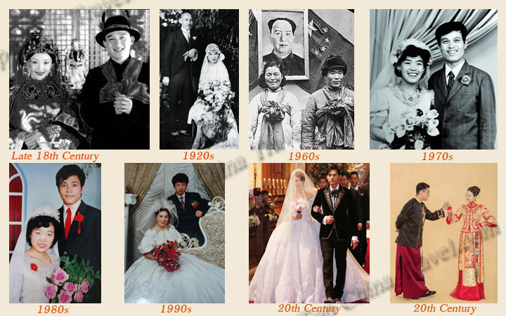 chinese wedding dress over the years