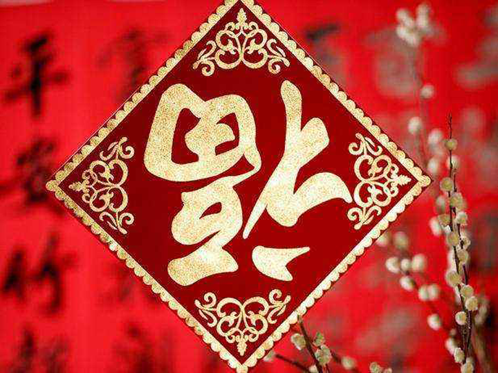 Chinese New Year Decorations Couplets Fu Characters Paper Cutting