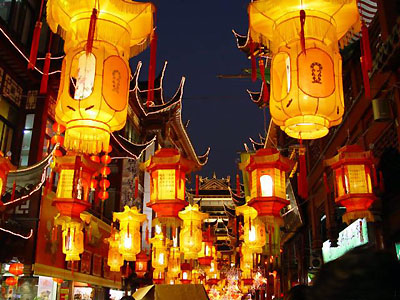 Yuyuan Market Night View