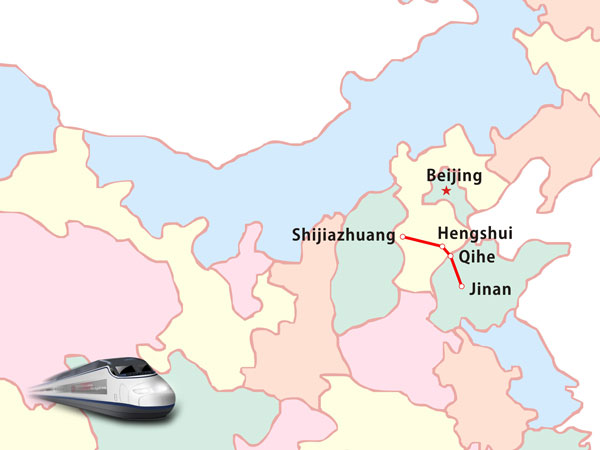 Shijiazhuang-Jinan high-speed rail