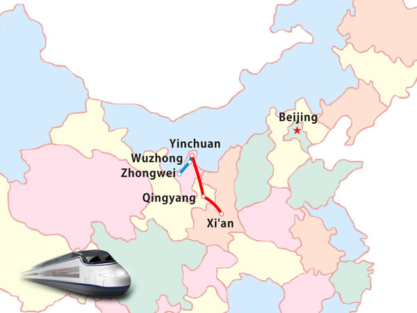 Yinchuan-Xi'an High-speed Rail