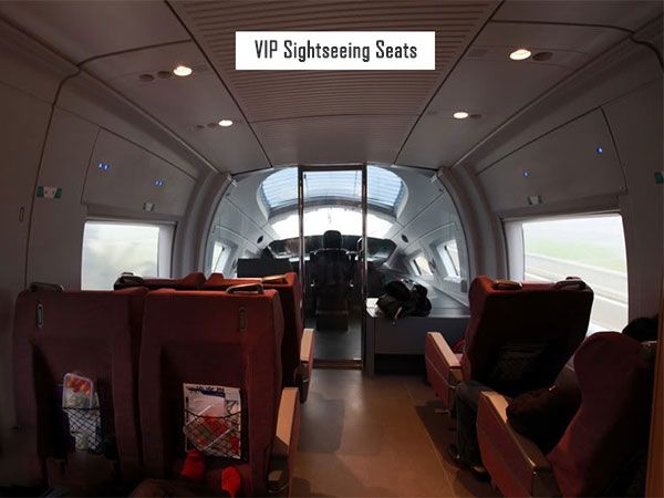 VIP sightseeing seats