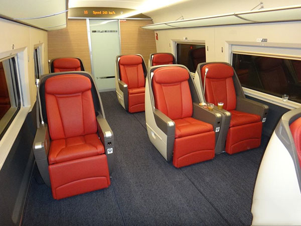 high-speed train business seats