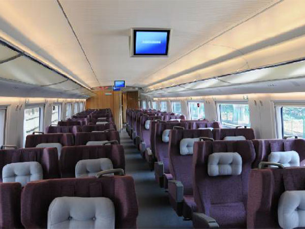 high-speed train first-class seat