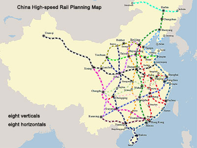 China High-speed Rail Planning Map