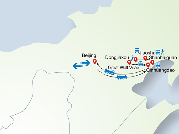 3 Days Great Wall Hiking Tour to Laolongtou