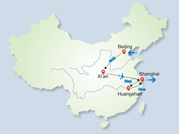 Huangshan group tour map