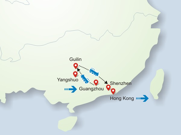 Guangzhou-Guilin-Shenzhen-Hong Kong Tour