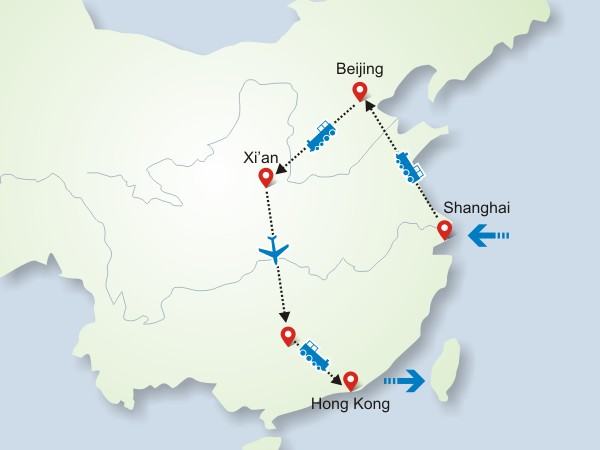 12 Days Impression China Golden Route Tour