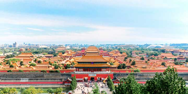 Overview of Forbidden City from Jingshan Park