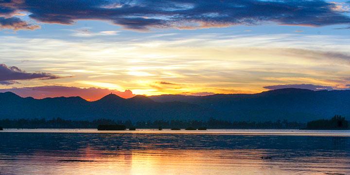 Sunset of Erhai Lake