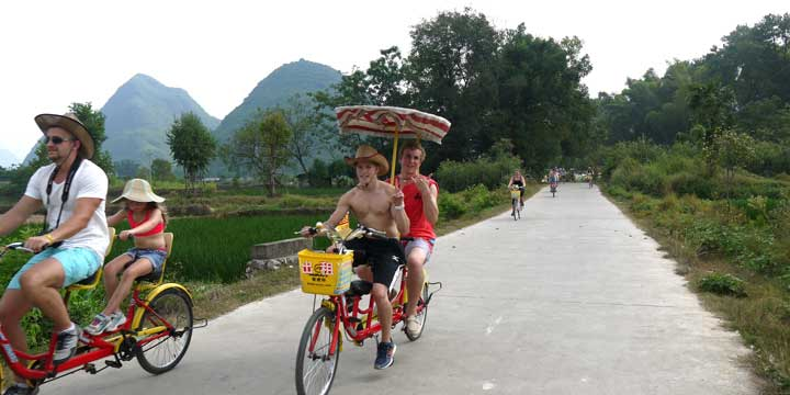 Go Cycling around Countryside of Yangshuo