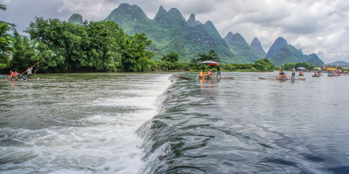 Bamboo Rafting along Yulong River