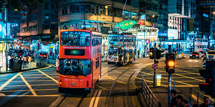 Ding-ding Tram in Hong Kong
