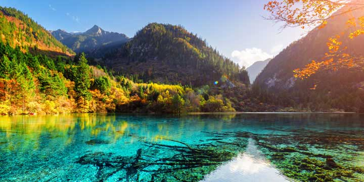 Most Beautiful Places in China - Jiuzhaigou Valley