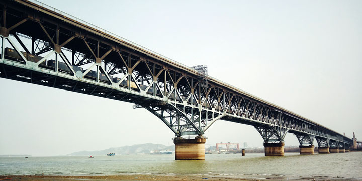 The Longest Bridges in China - Nanjing Yangtze River Bridge