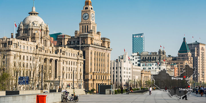 landmarks in shanghai-the bund
