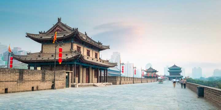 la muralla antigua de la ciudad