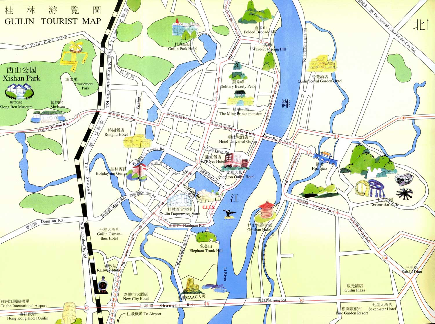 Guilin city map for tourist