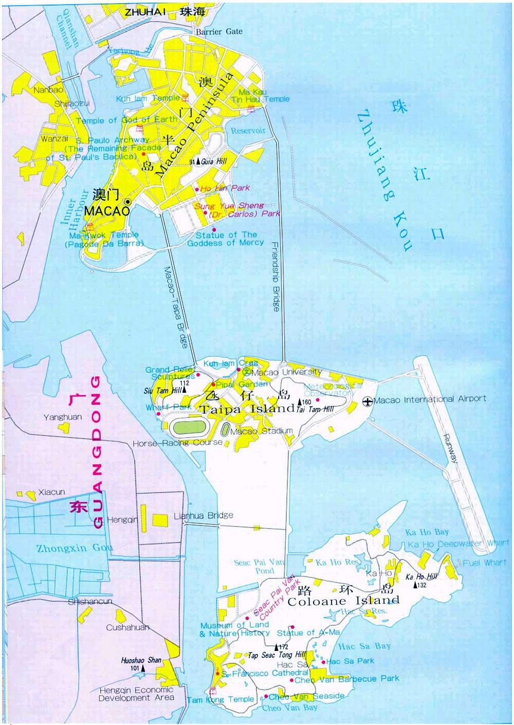 Macau Maps Map Of Macau China Macau Tourist MapsMacau City Map - Macau map