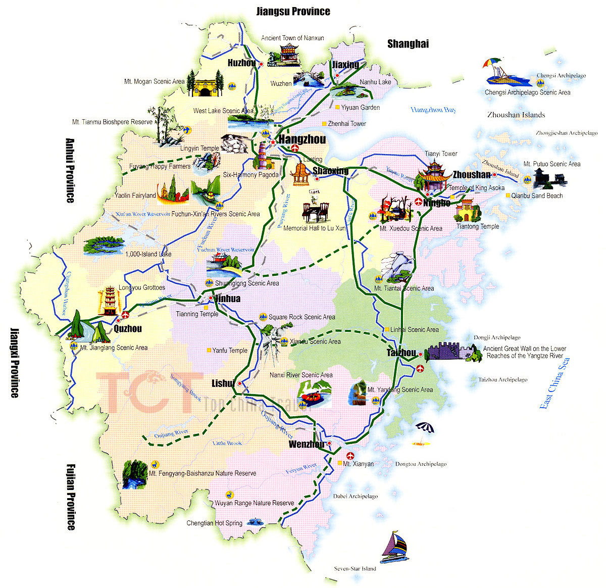 Zhejiang Maps Map Of Zhejiang China Zhejiang Province Maps