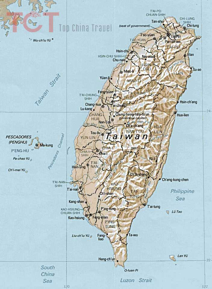 Taiwan China Map.Taiwan Map Taiwan Tourist Map Taiwan Province Map Map Of Taiwan China