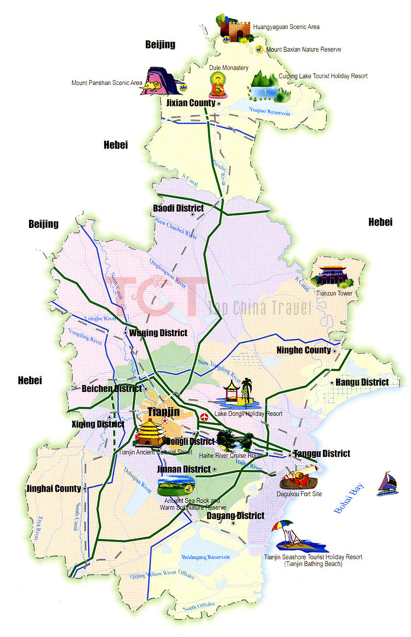 Tianjin maps map of tianjin china tianjin tourist mapstianjin tianjin tourist map gumiabroncs Image collections