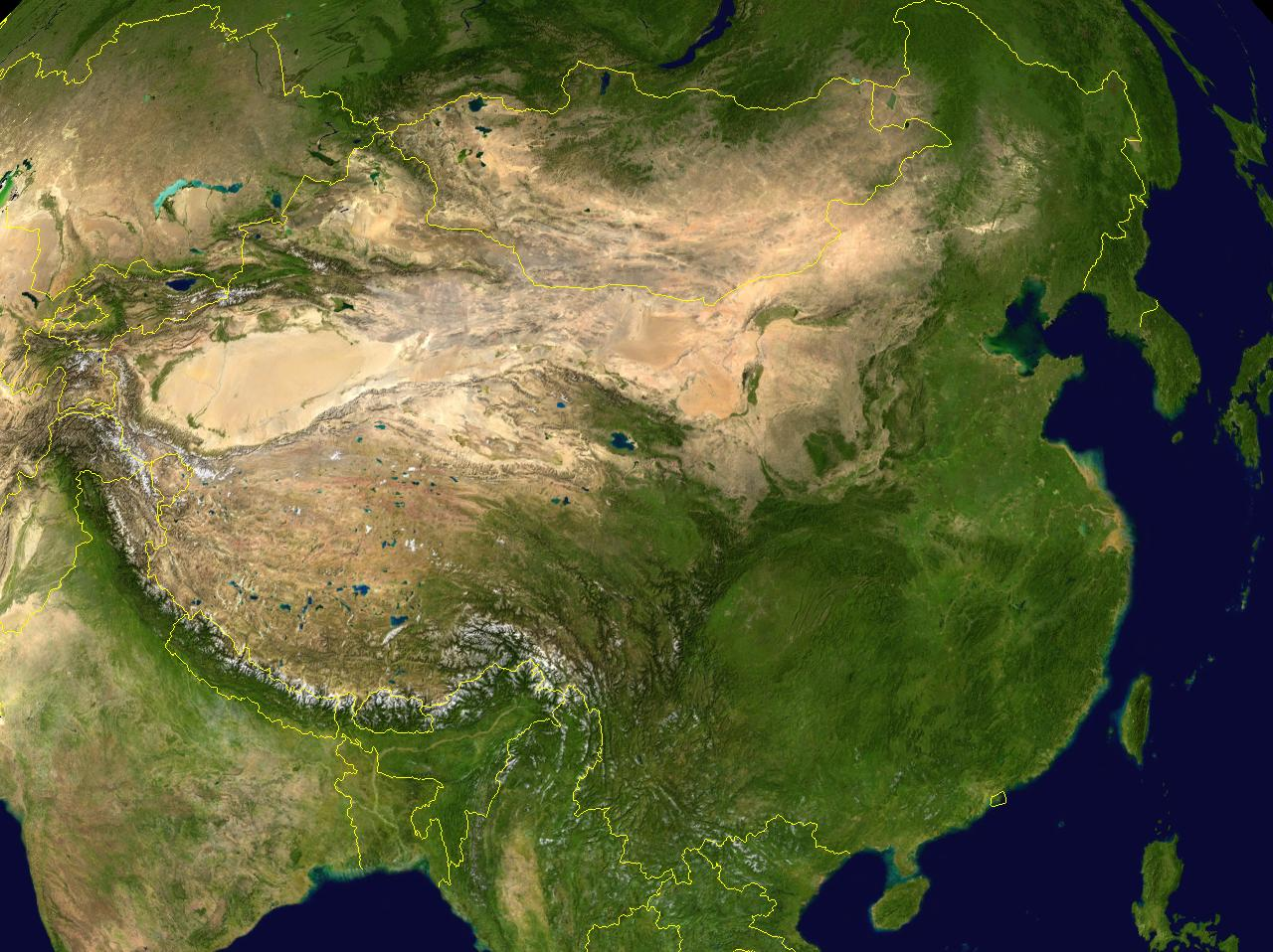 China Satellite Map