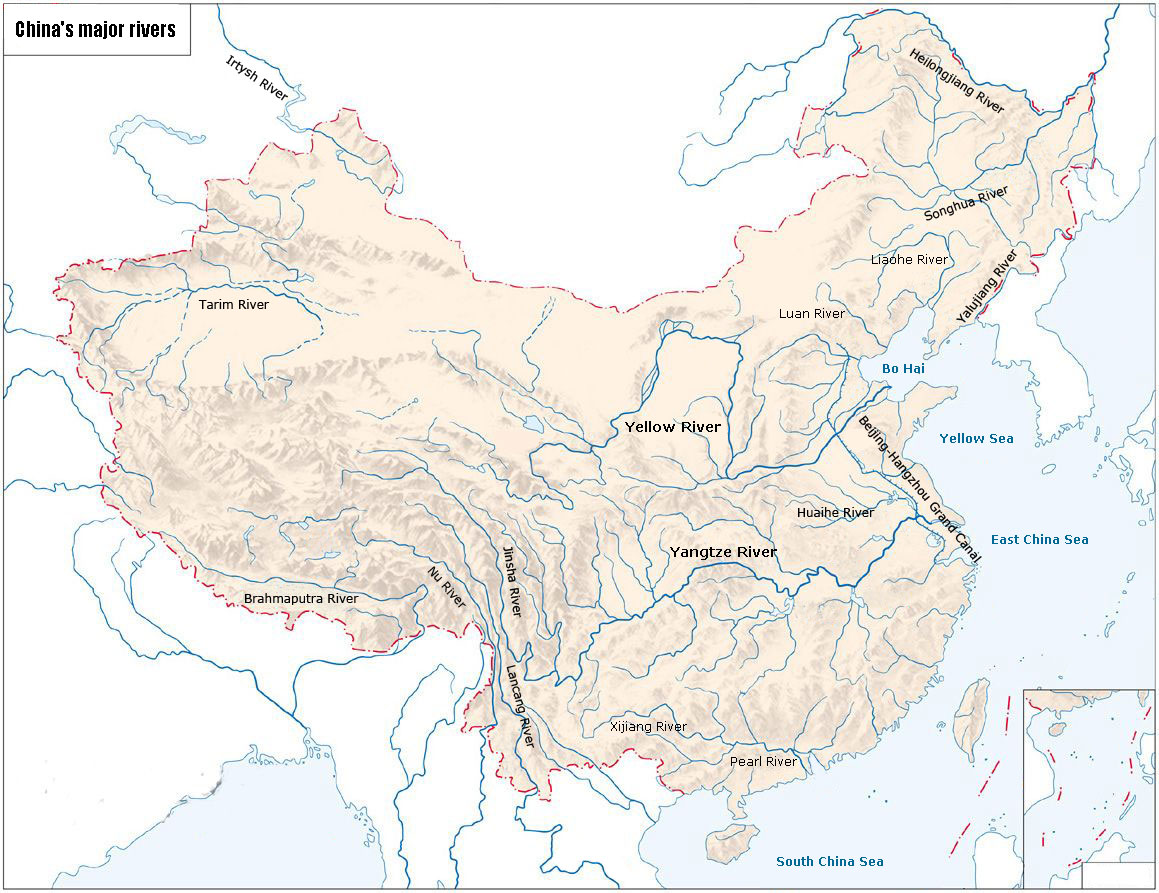 Map of China Rivers