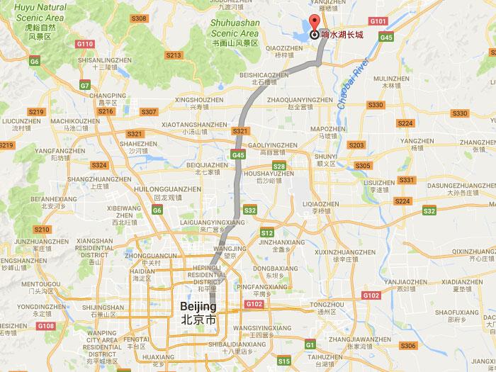 Xiangshuihu great wall in huairou of beijing xiangshuihu great wall location gumiabroncs Gallery