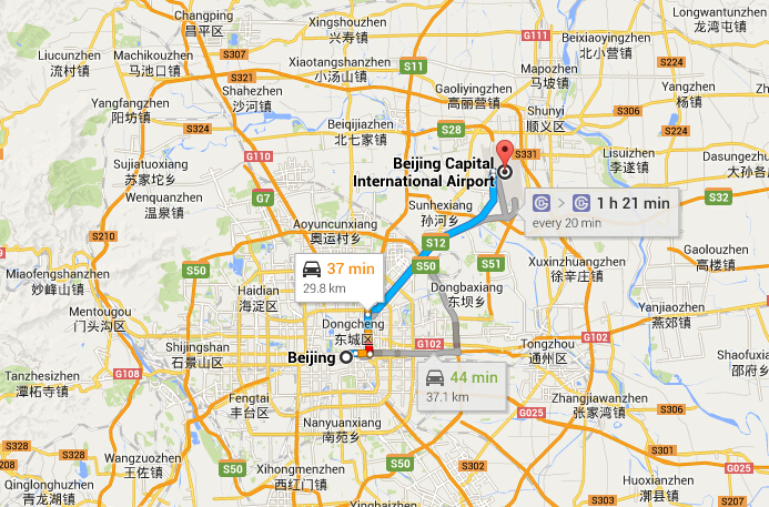 How to get to Beijing downtown from Beijing Airport