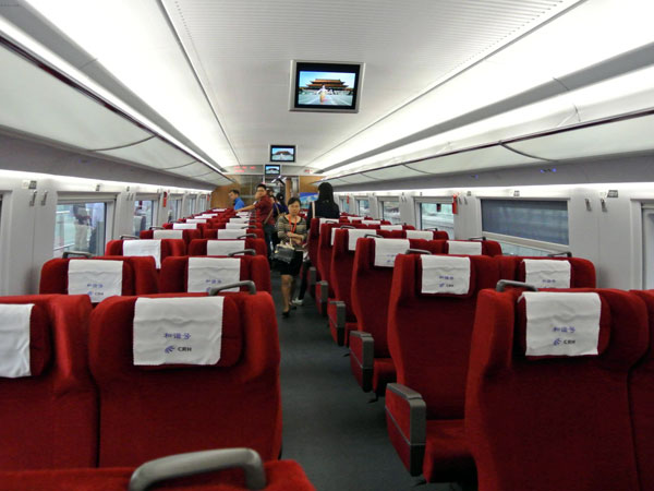 1st class seat of high speed train China