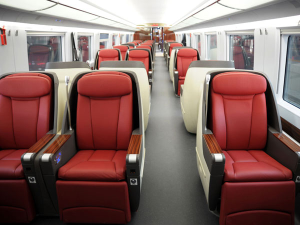 business class seat of high speed train China
