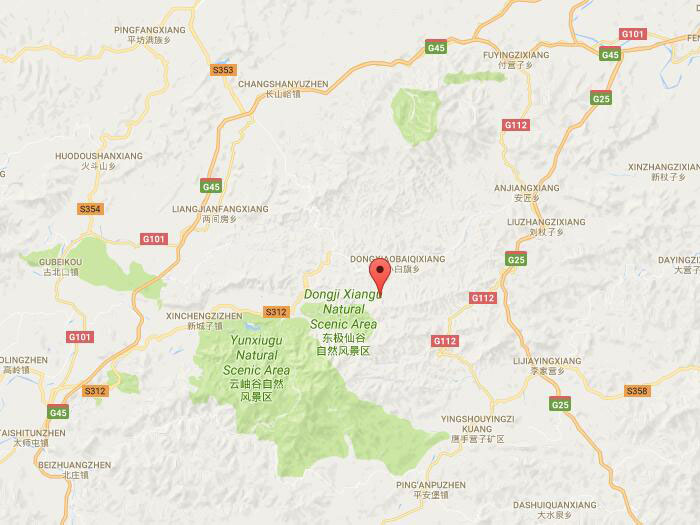 Chengde Wooden Club Mountain Natural Attraction In Chengde China - Chengde map